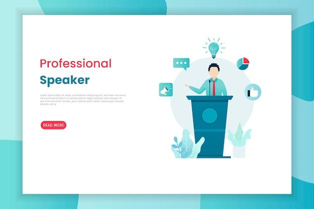 Professional speaker landing page