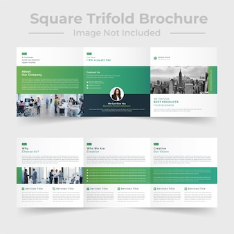 Professional square trifold brochure