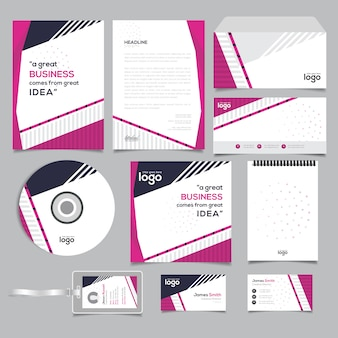 Professional stationary template