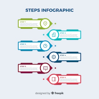 Professional steps infographic