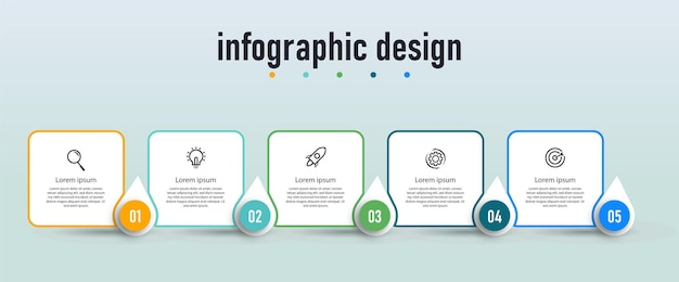 전문 단계 타임 라인 인포 그래픽 디자인 컨셉