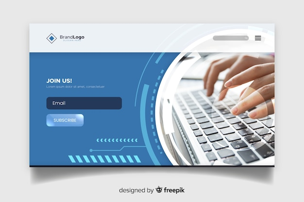 Professional technology landing page