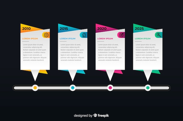 Professional timeline infographic