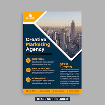 Professional trendy corporate business flyer template