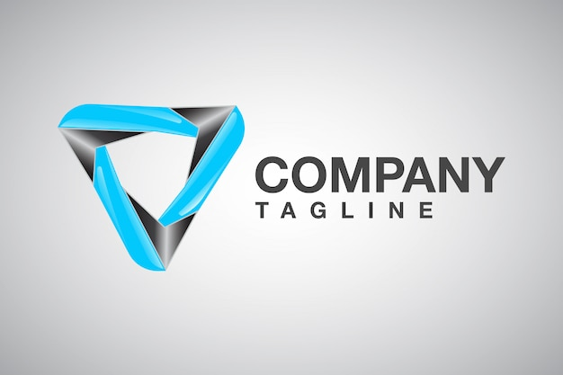Professional triangle 3d logo