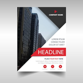 Professional triangular annual report template