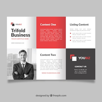 Professional trifold flyer template