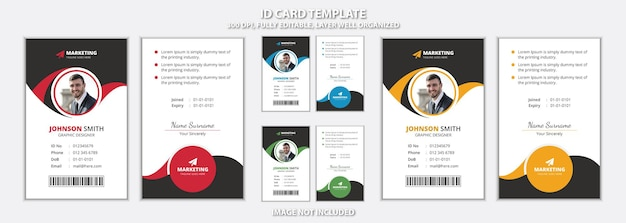 Professional unique office id card eye catchy template