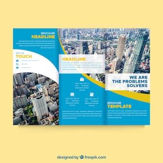 Professional wavy trifold brochure