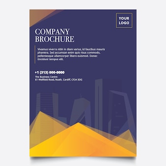 Professional yellow company brochure design