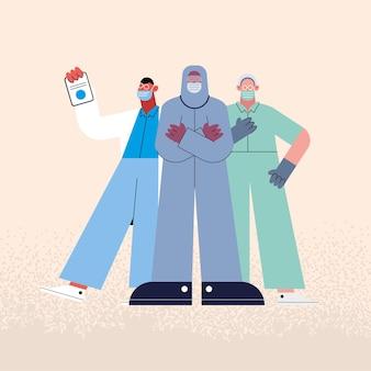 Professionals doctors staff