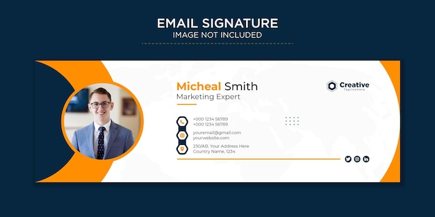 Professionals and modern business email signature premium vector template design