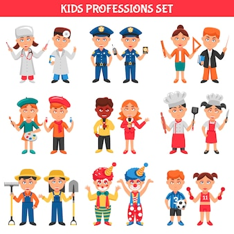 Professions kids set