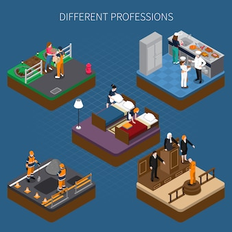 Professions uniform isometric