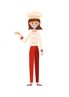 職業。医療用マスクの女性