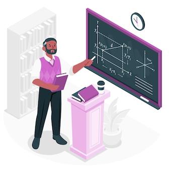 Illustrazione di concetto del professore