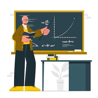 Illustrazione del concetto di professore