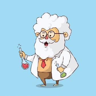 Professor labs experiment cartoon character