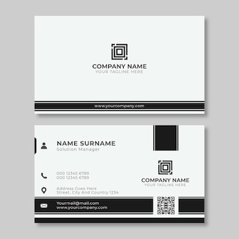 Professtional business card design in black and white color
