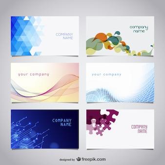Вектор бесплатно визитные карточки комплект