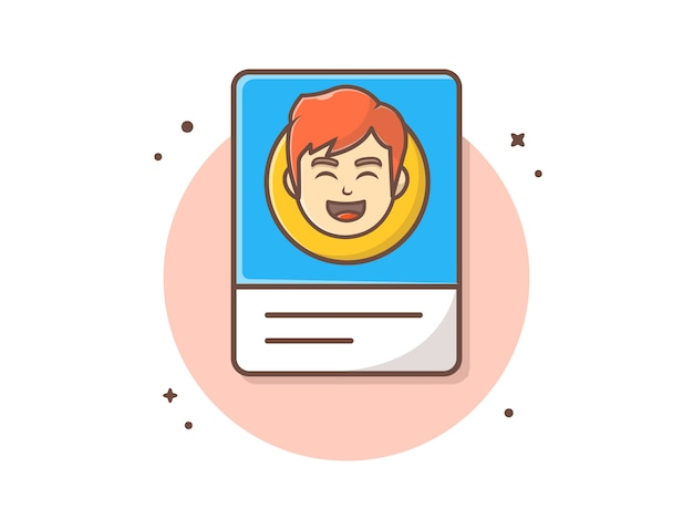 Profile card with character vector  illustration