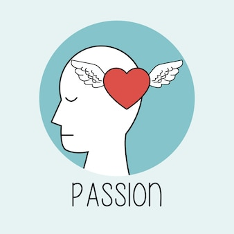 Profile human head passion