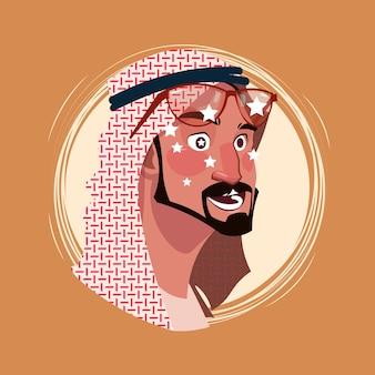 Profile icon indian male emotion avatar