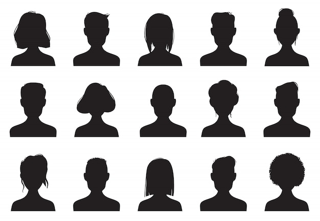 Profile icons silhouettes