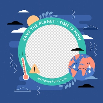 Profile picture climate change facebook frame