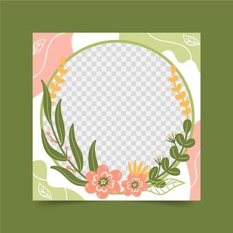 Profile picture floral facebook frame