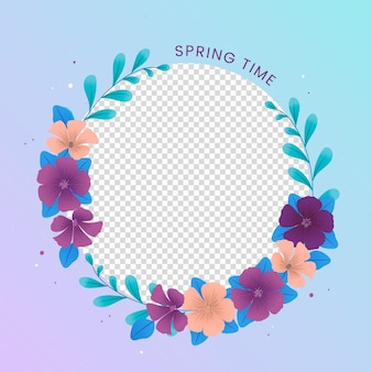 Profile picture floral facebook frame