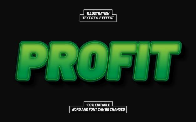 Profit 3d bold text style effect