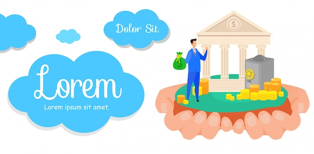 Profitable banking business banner