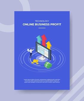 テンプレートの収益性の高いオンラインビジネスの概念。
