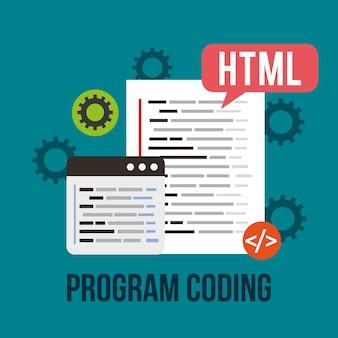 Program coding algorithm html website development