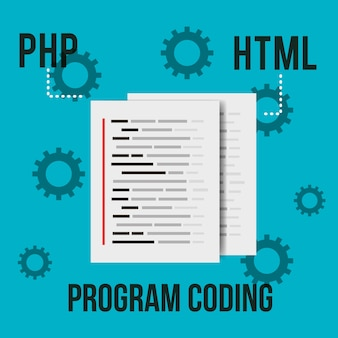 Program coding document page html settings