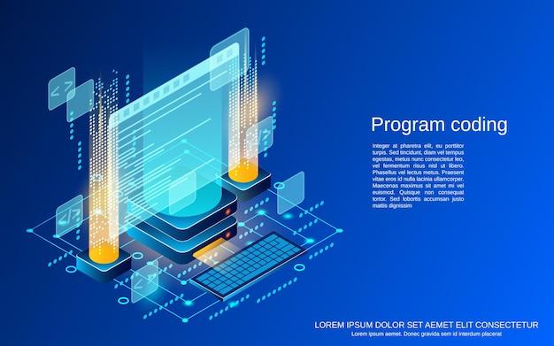 プログラムコーディングフラット等角ベクトルの概念図