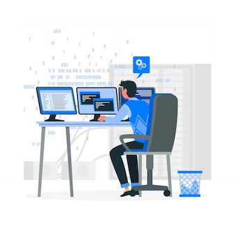 Programmer concept illustration
