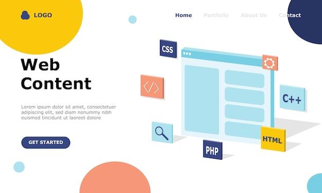 Programmer and engineering development illustration concept