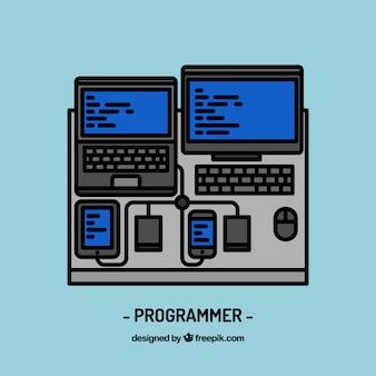 프로그래머 직장 디자인