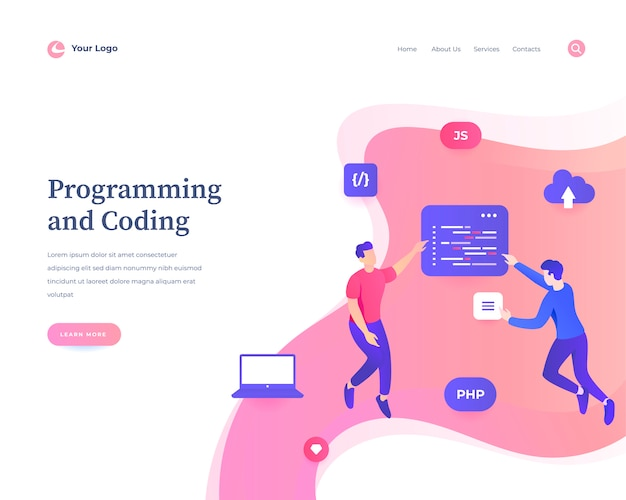 Programming and coding web template