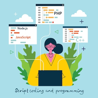 Programming and coding, website development