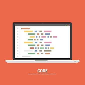 Programming development concept. Premium Vector