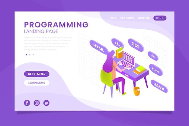 Pagina di destinazione di programmazione con codifica