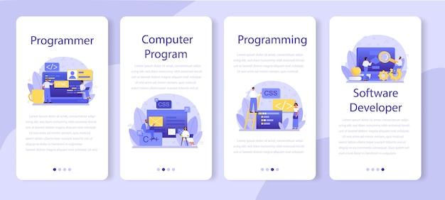 Programming mobile application banner set