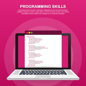 Programming skills for website and mobile website template