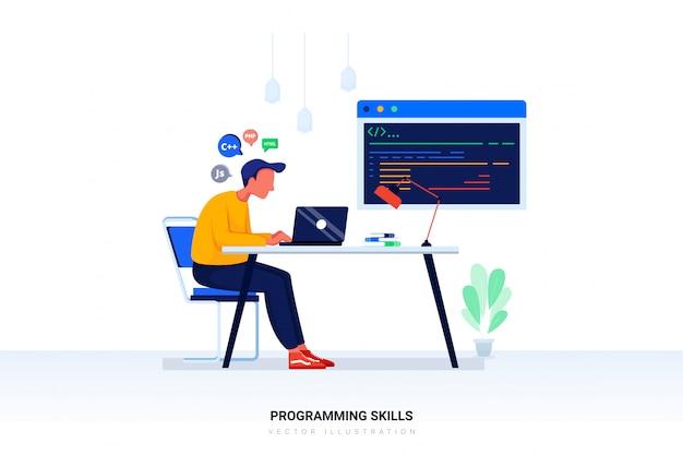 Programming skills  with character