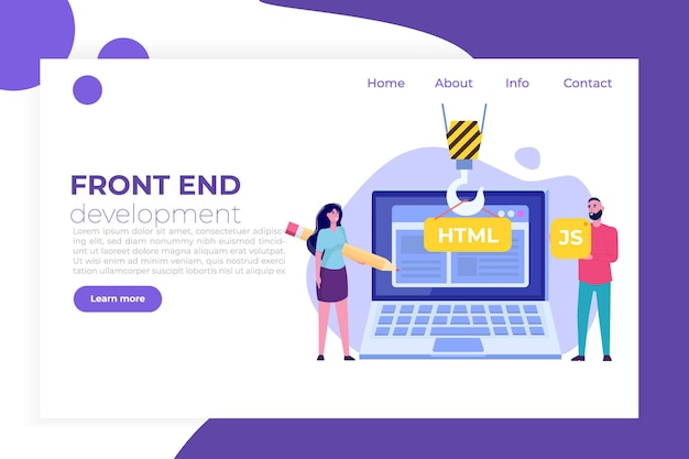 Programming software or app , web and front end development  concept.