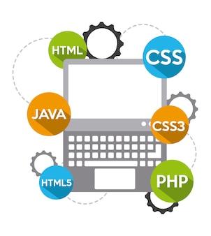 Programming software design, vector illustration eps10 graphic