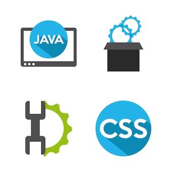 プログラミングソフトウェアデザイン、ベクトルイラストeps10グラフィック